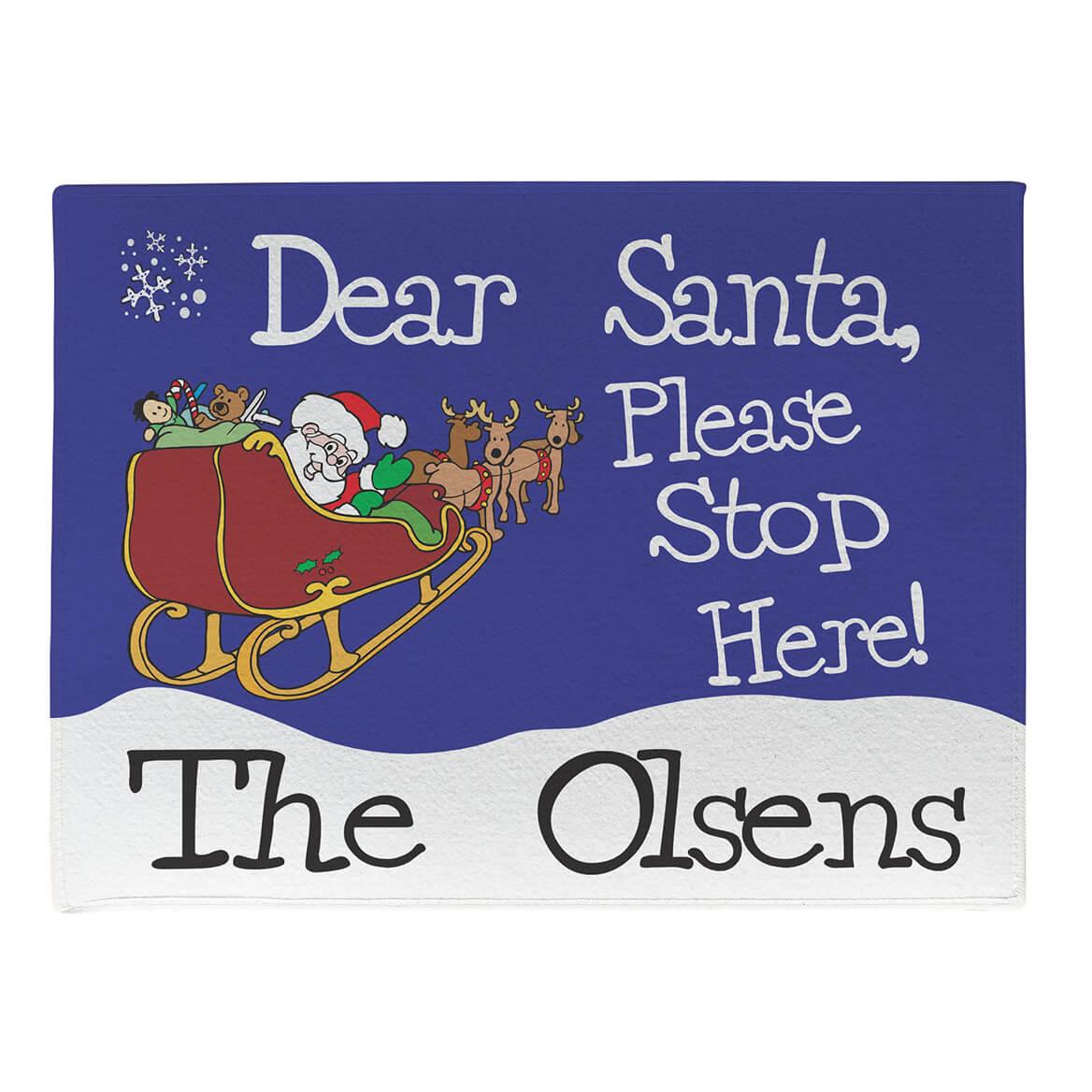Personalized Dear Santa Doormat