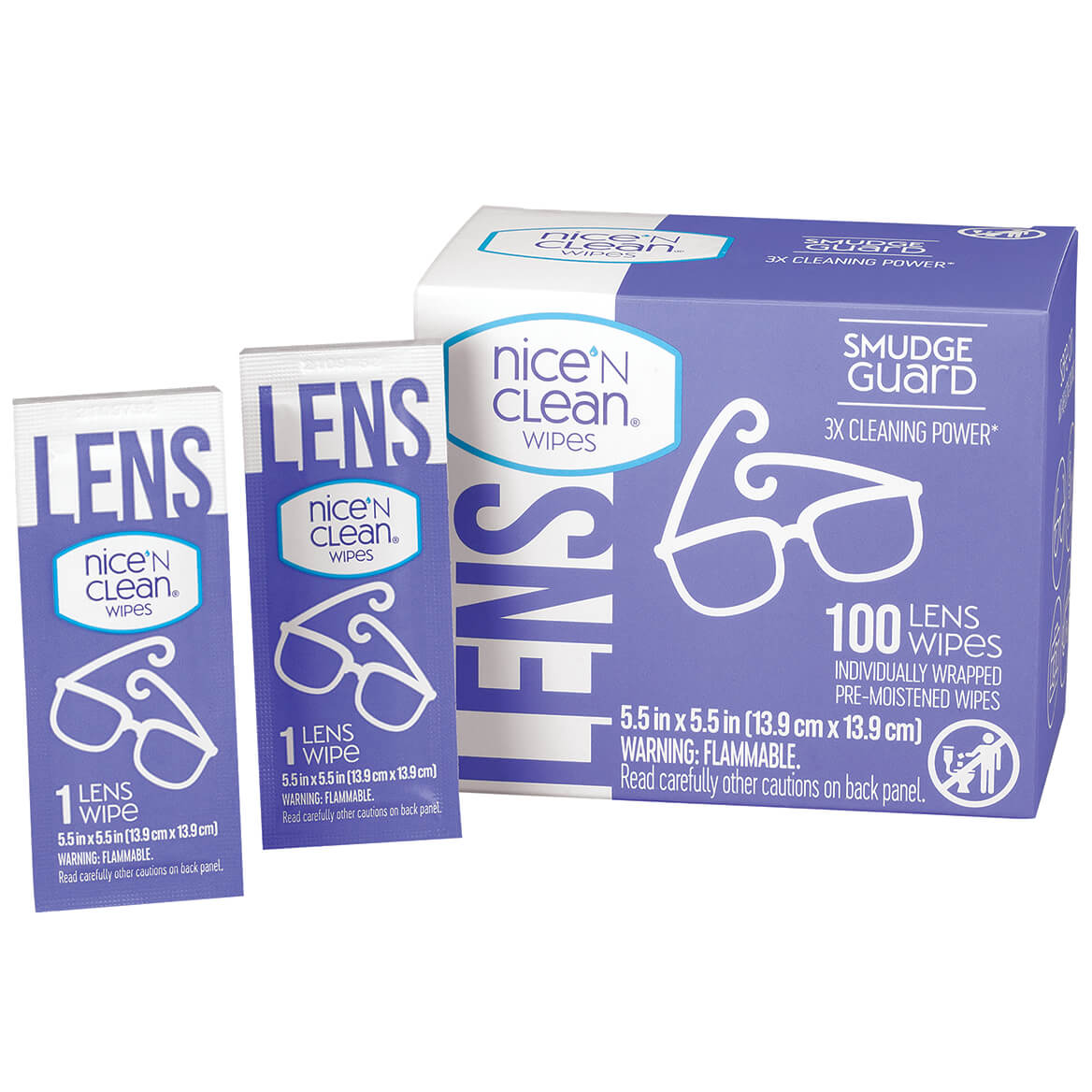 Nice n Clean Lens Wipes 100ct