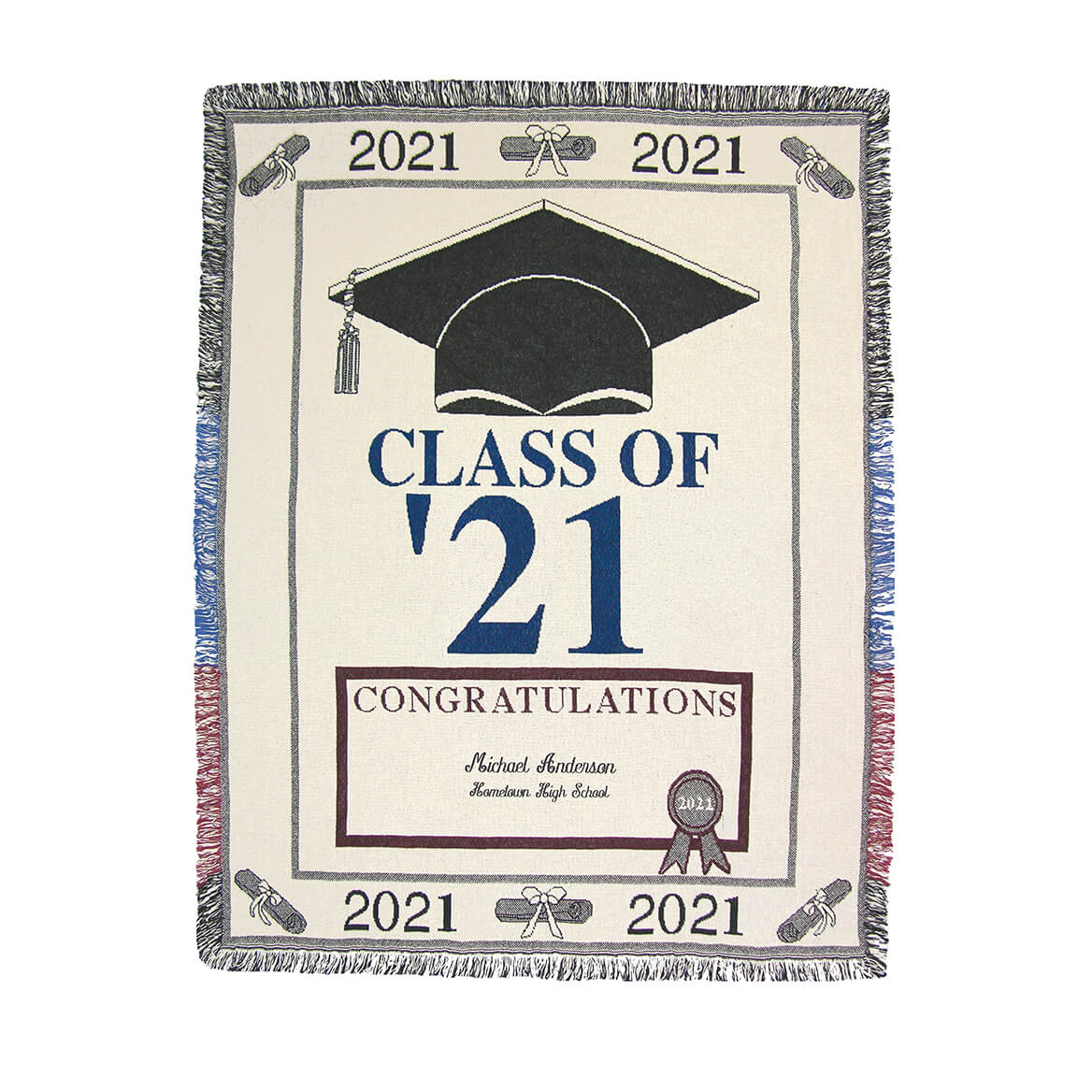 Personalized 2021 Graduation Afghan-363059