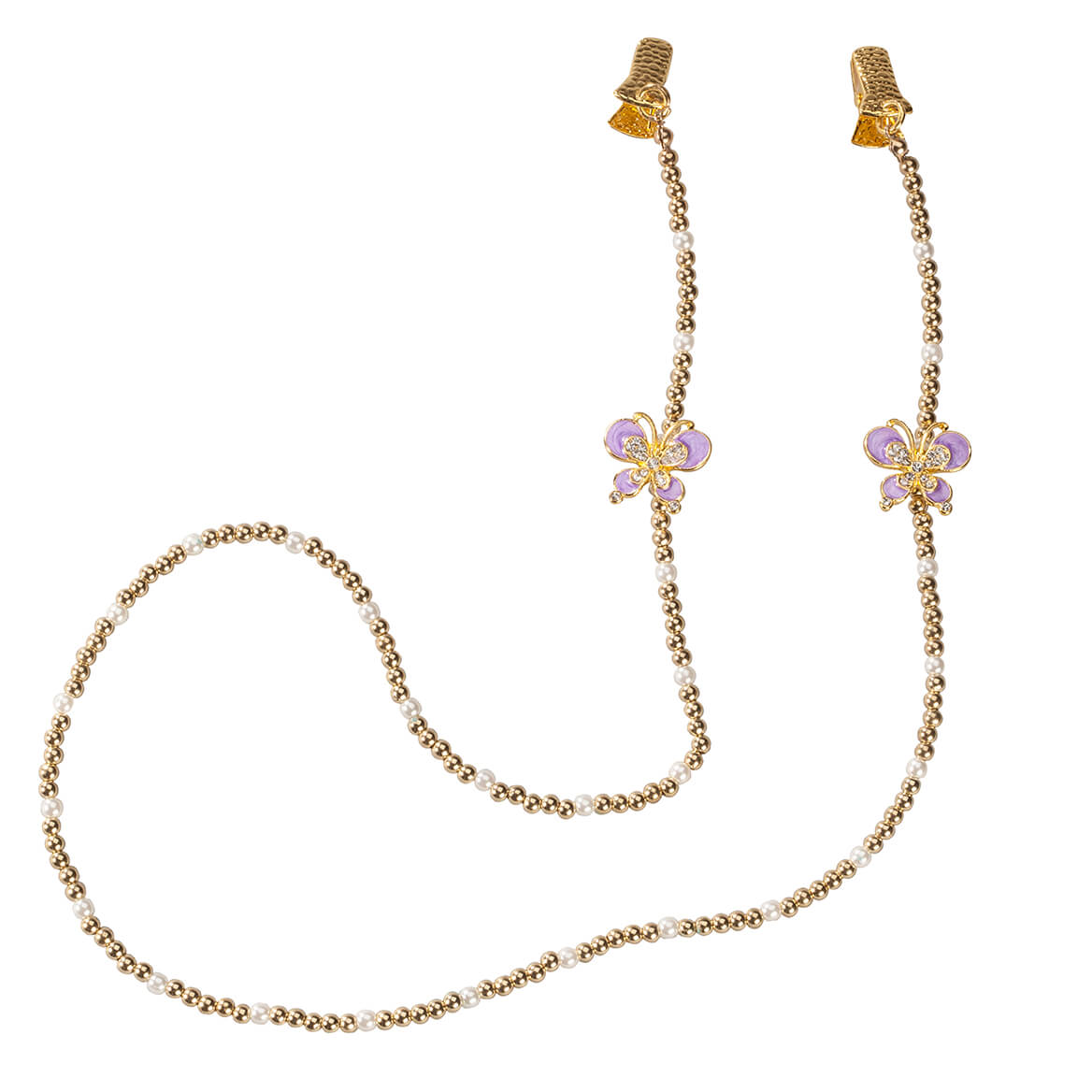 Butterfly and Beads Eyeglass Chain