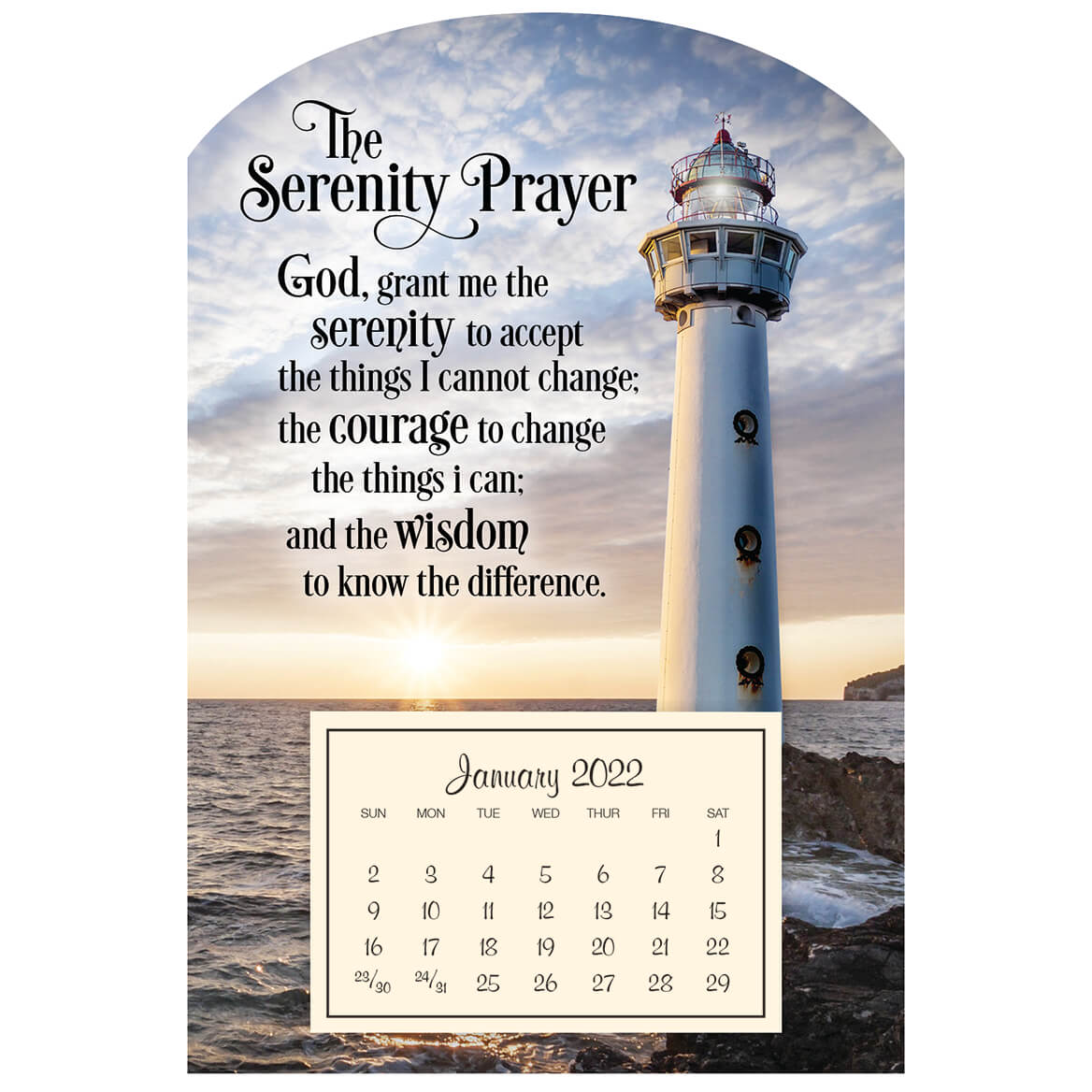 Mini Magnetic Calendar Serenity Lighthouse-363215