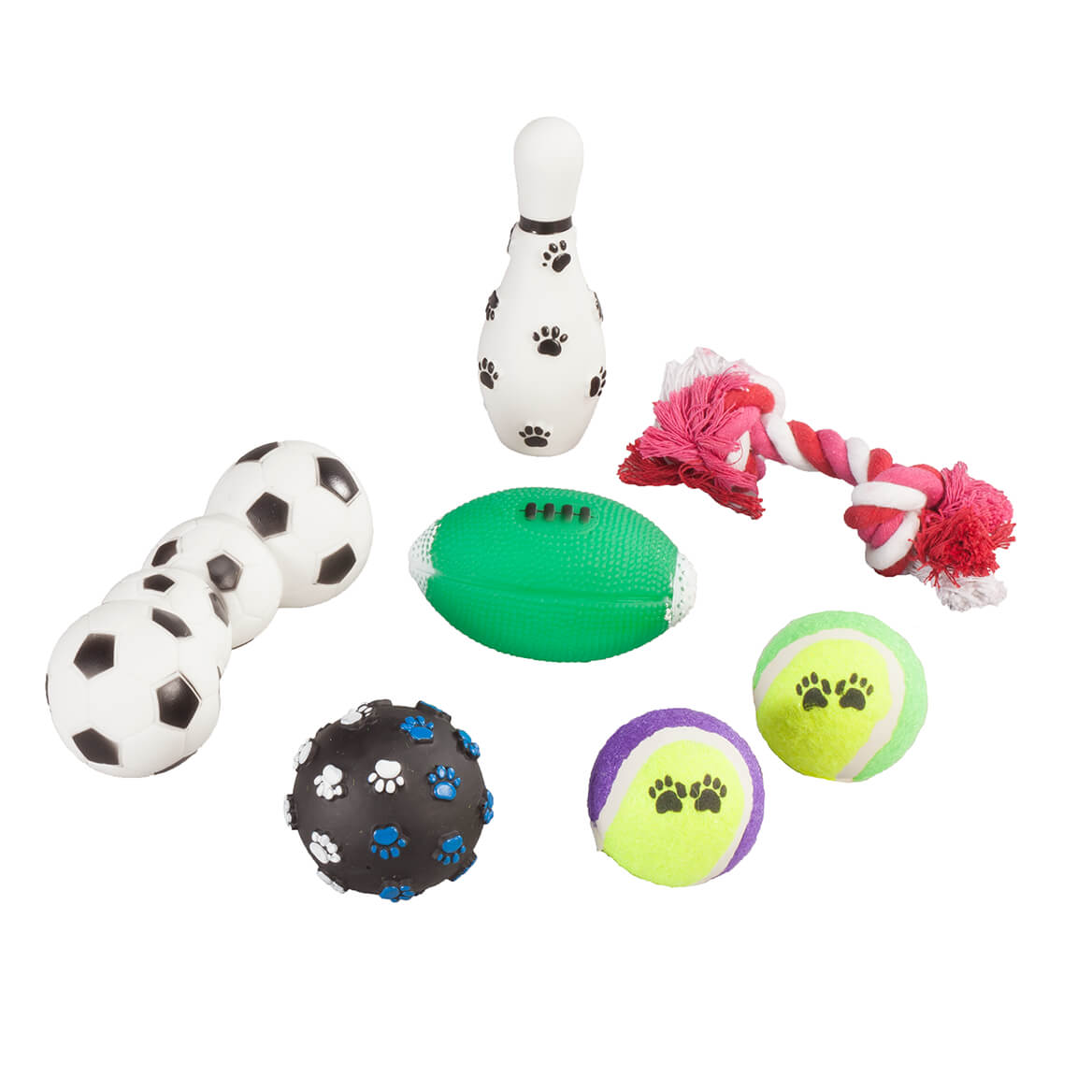 Sports Pet Toys, 7-Piece Set