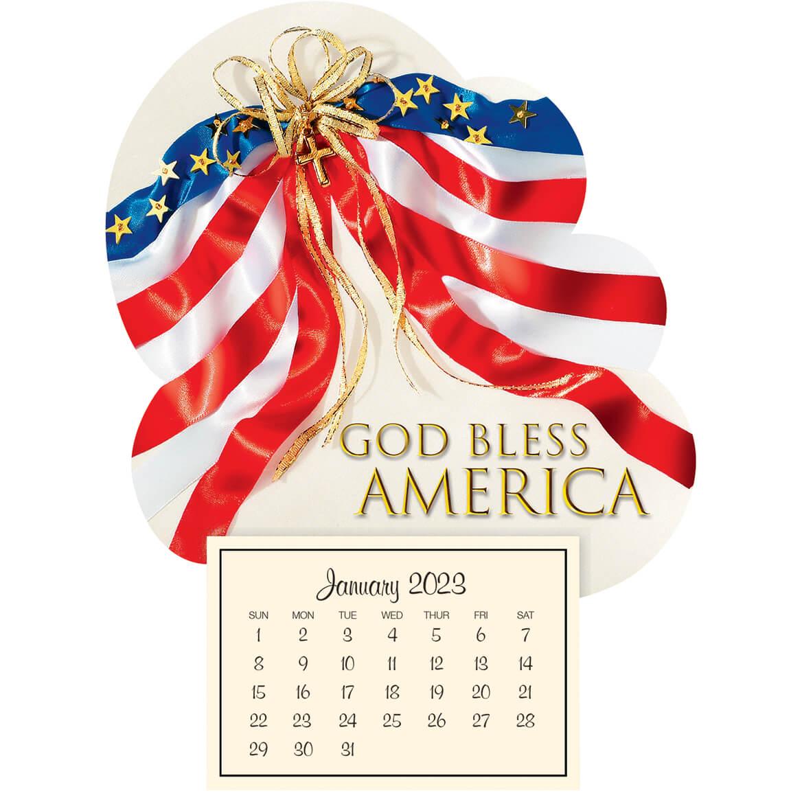 Mini Magnetic Calendar Patriotic-363220
