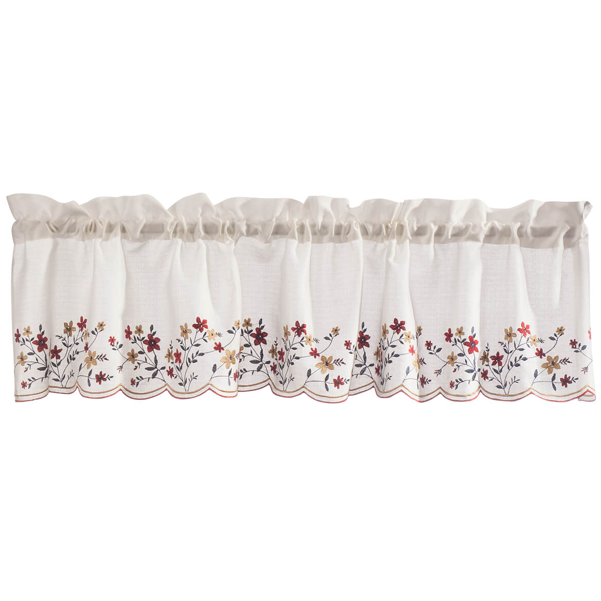 Floral Embroidered Insert Valance