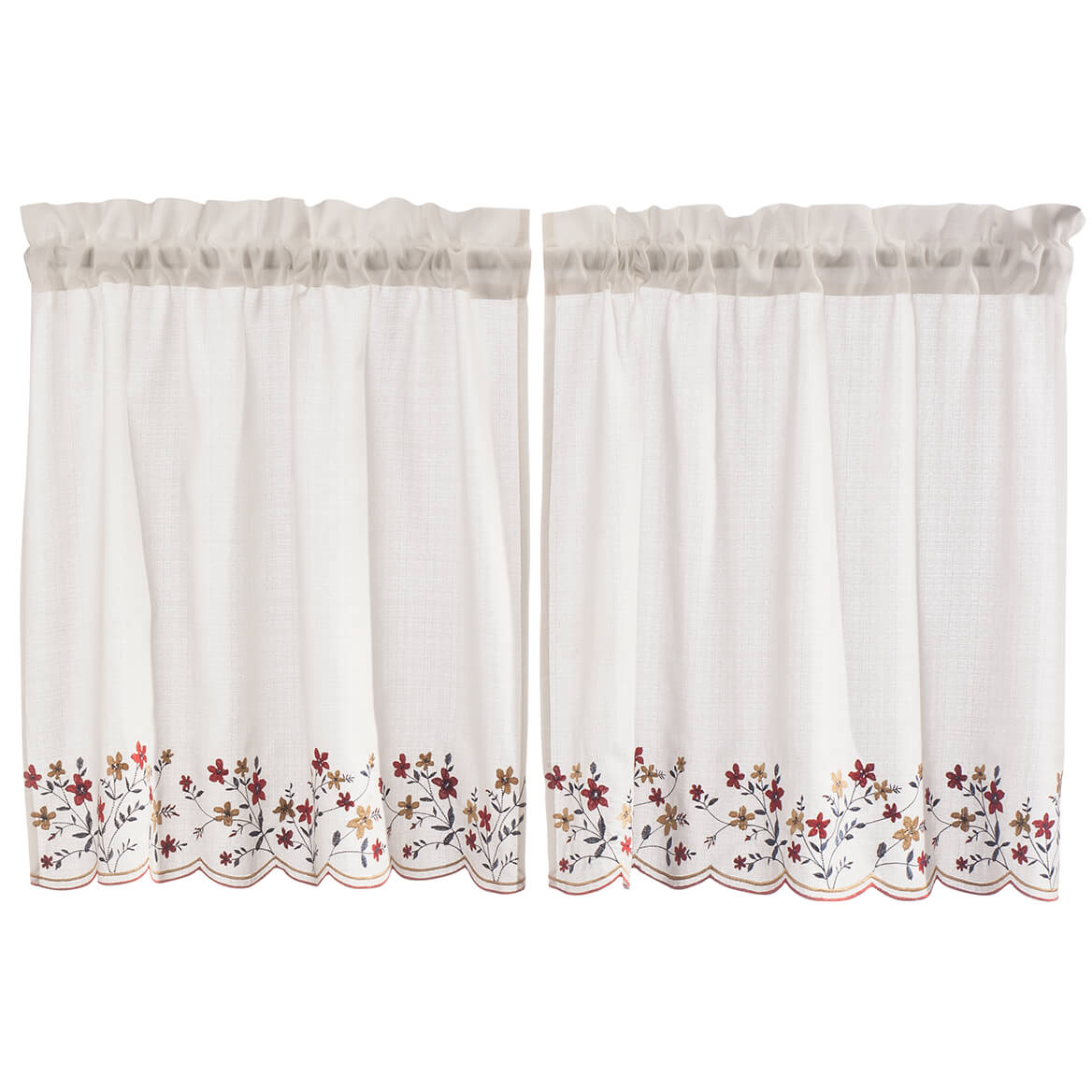 Floral Embroidered Tier Pair