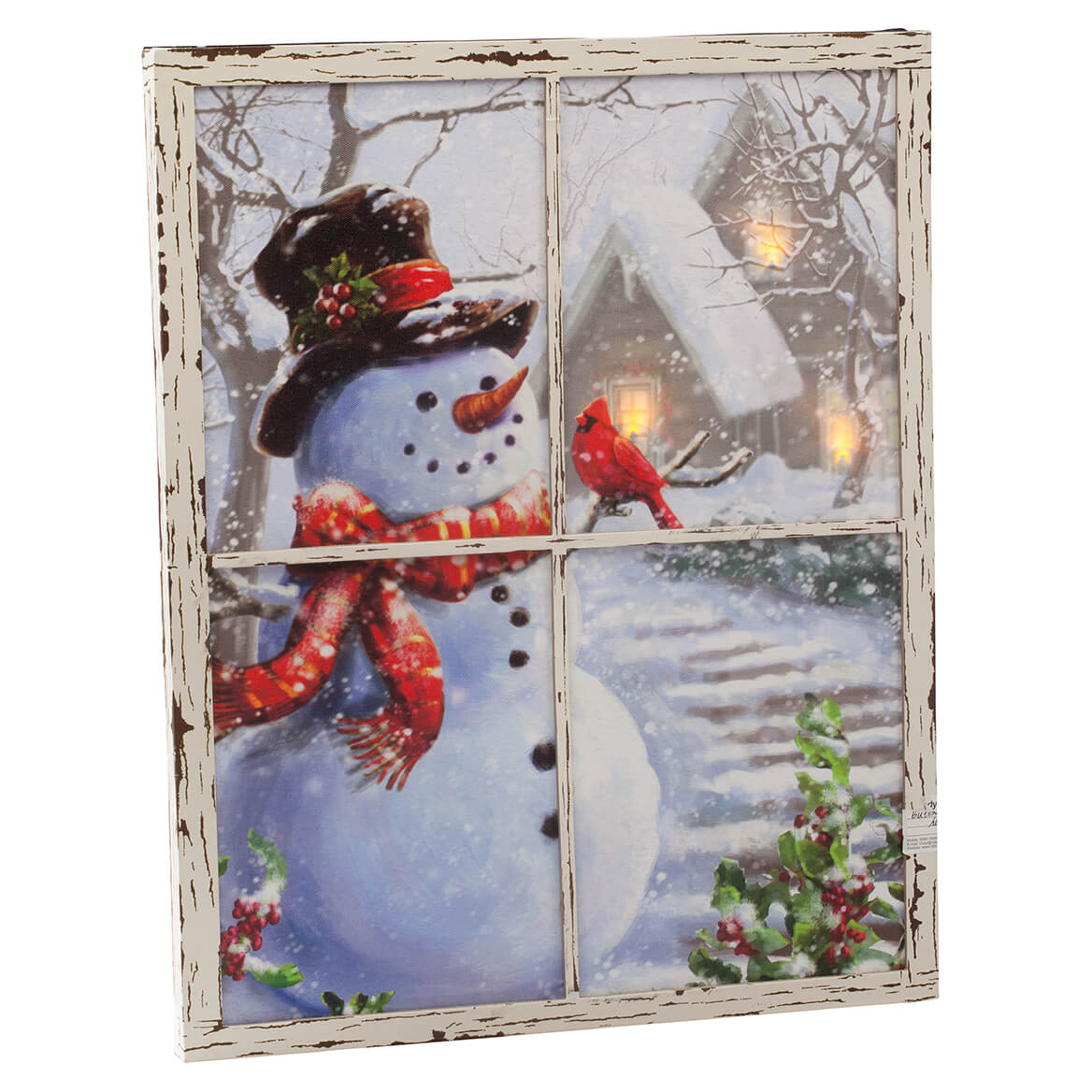 Lighted Snowman Window Canvas by Holiday Peak™-363474