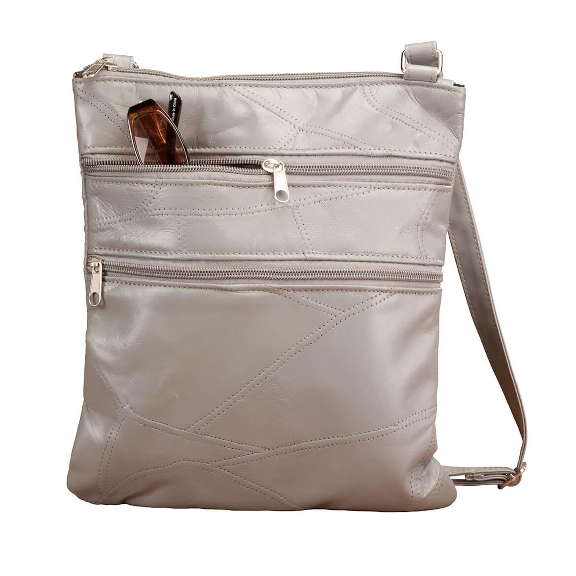 RFID Lambskin Patch Leather Crossbody Bag-363493