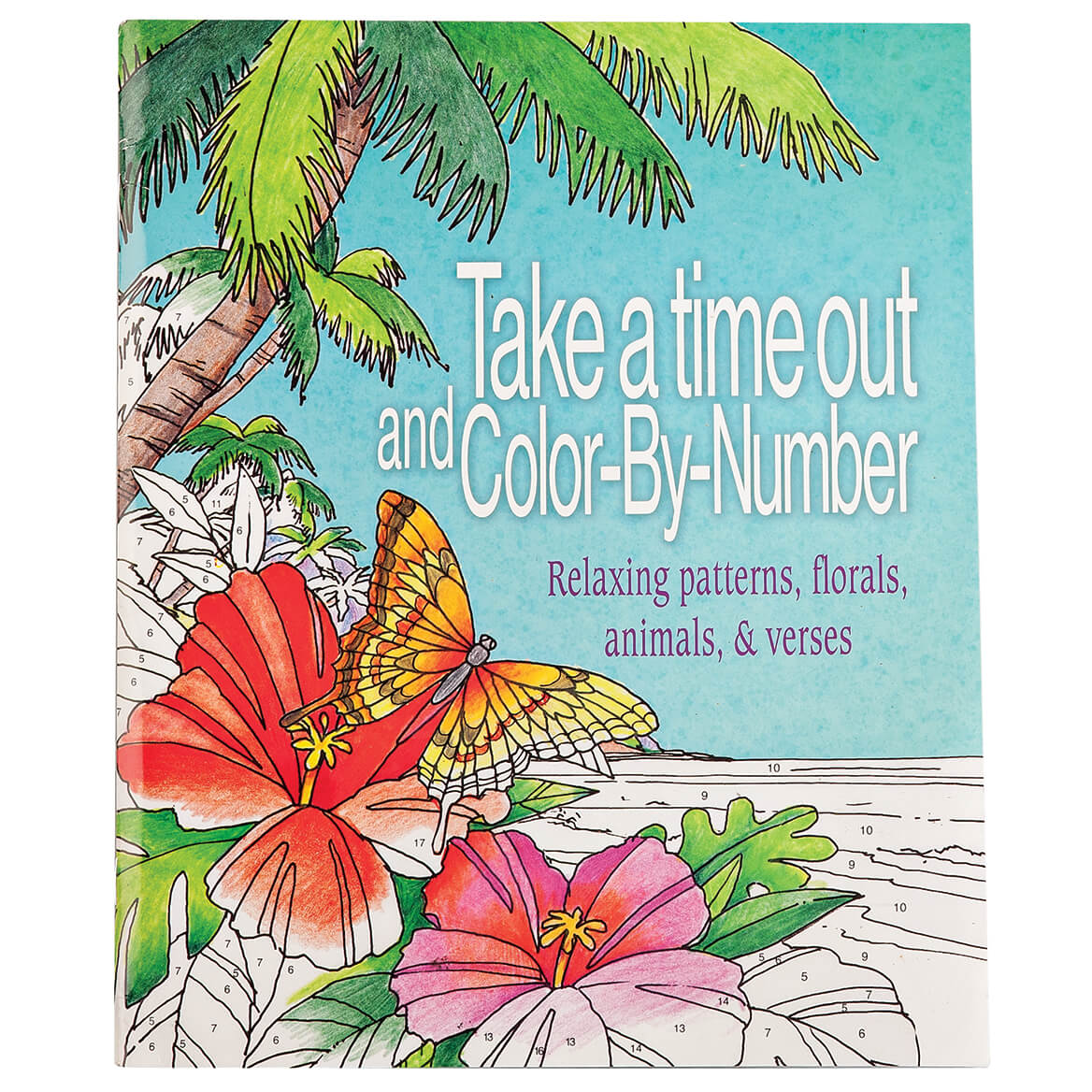 Take Time Out Color-by-Number Book - Adult Coloring - Miles Kimball