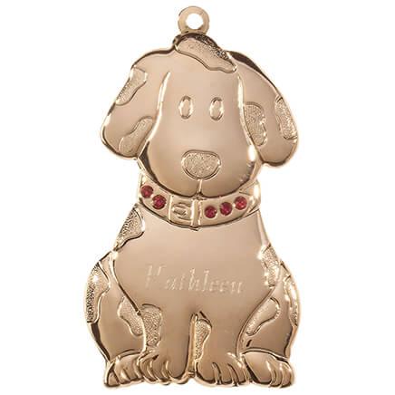 2885612f39ae Personalized Brass Birthstone Dog Ornament-363529 ...