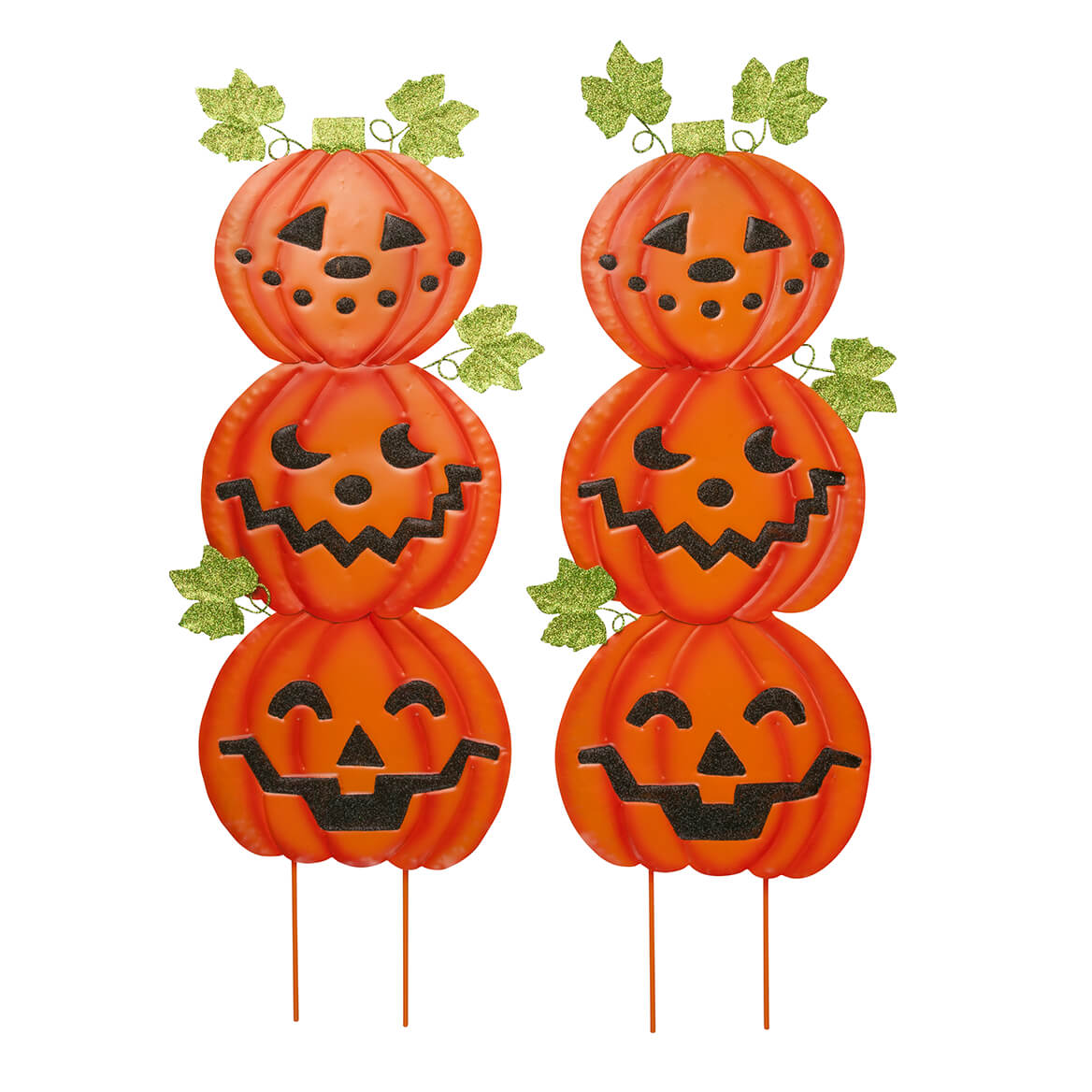 Jack-O-Lantern Metal Stakes Set of 2 by Fox River Creations™-363549