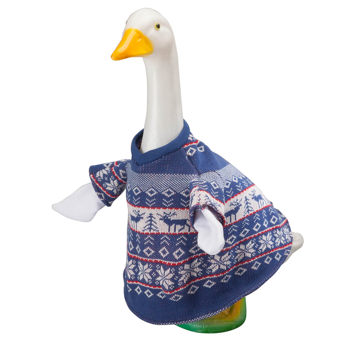 Blue and White Sweater Goose Outfit-363610