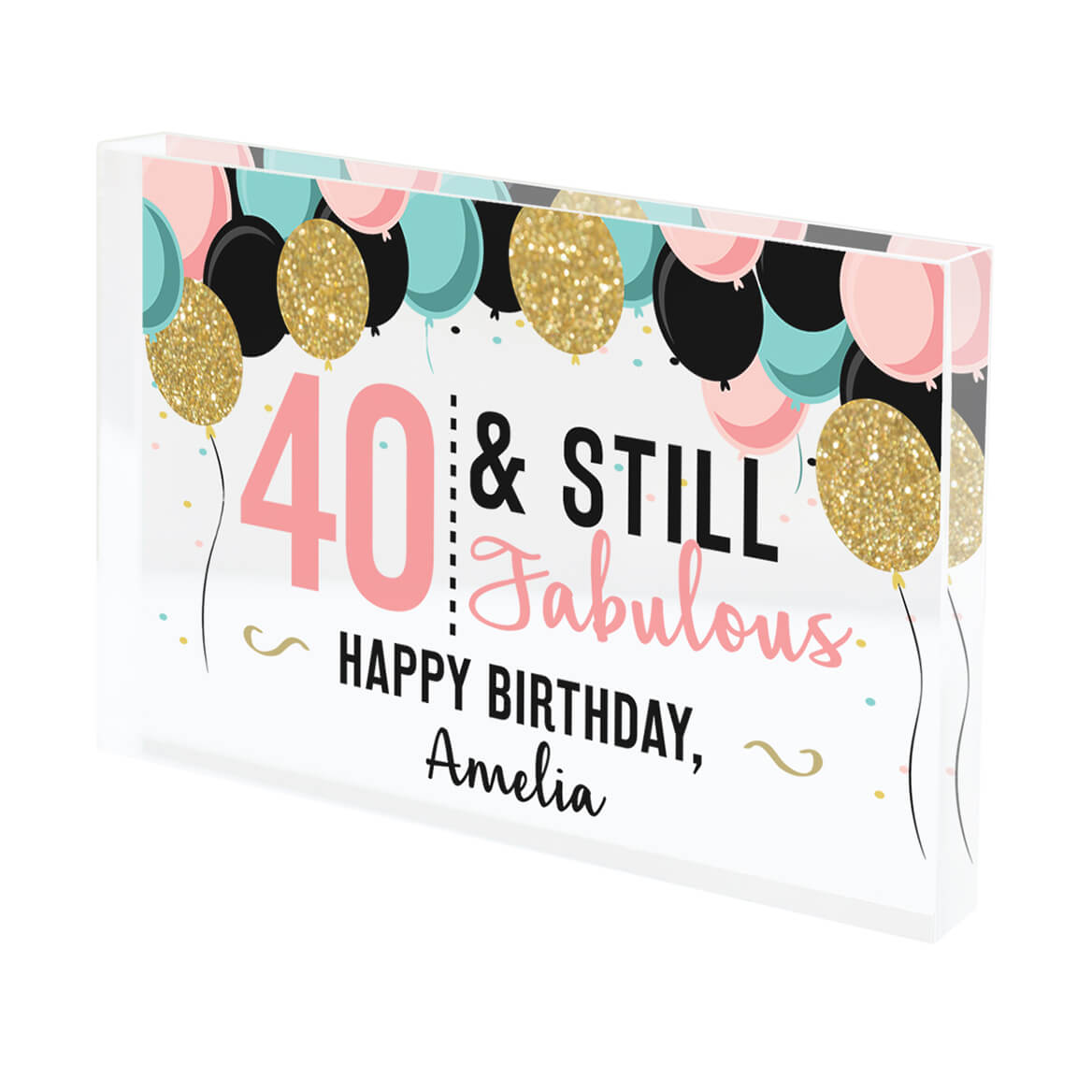 Personalized Acrylic Block Birthday Keepsake