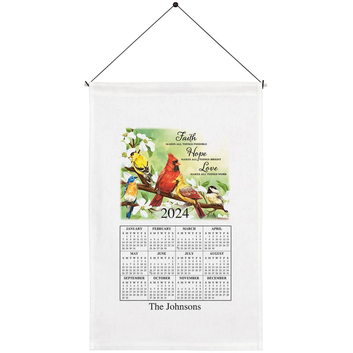 Personalized Faith, Hope, Love Calendar Towel-363758