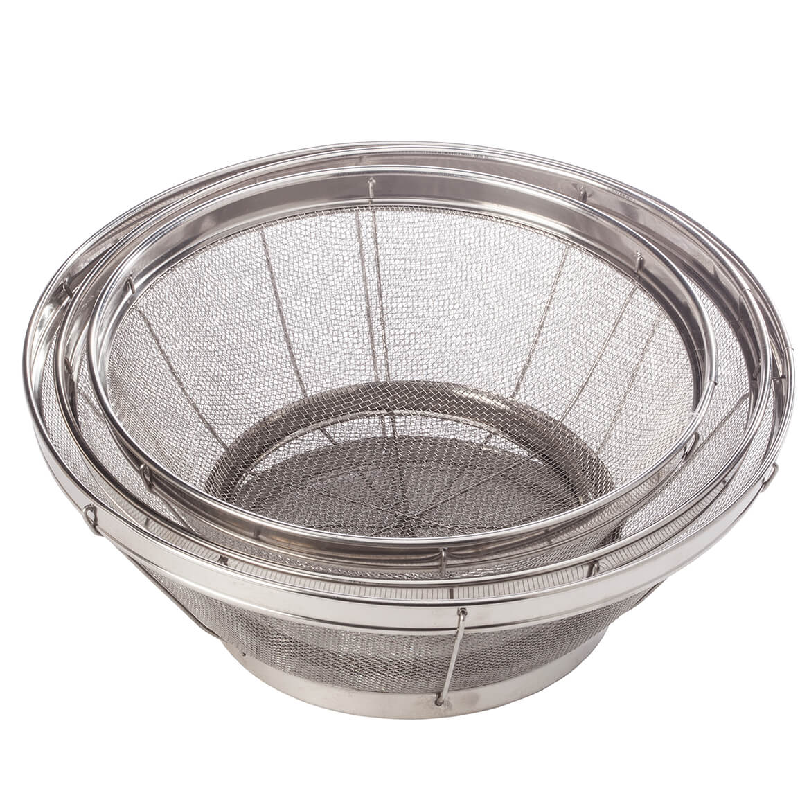 Home Marketplace Set/3 Stainless Steel Mesh Colanders-363793