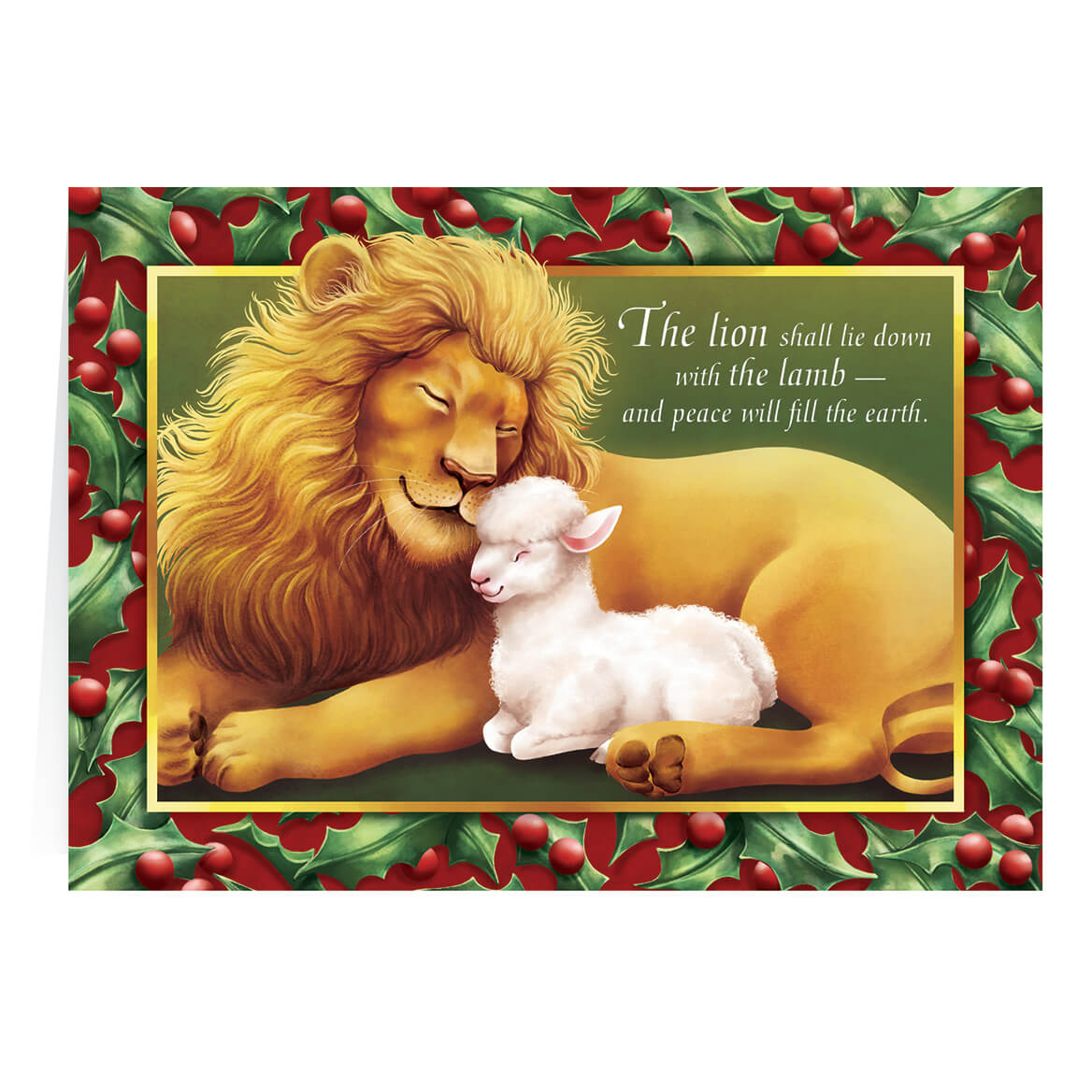 Lion and the Lamb - Personalized Christmas Cards - Miles Kimball