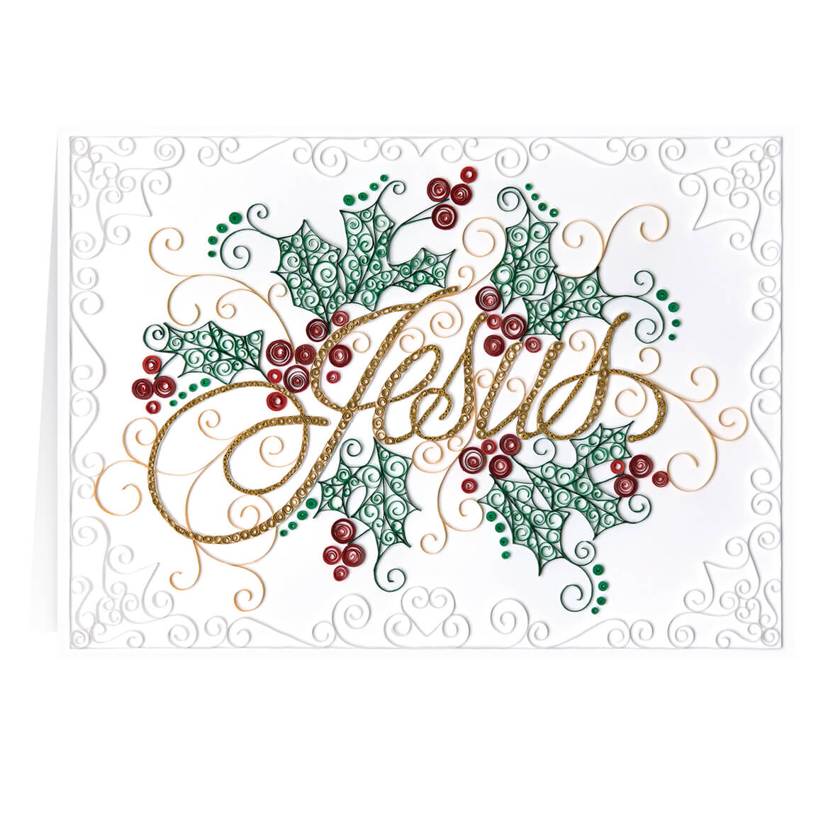 Paper Filigree Christmas Card Set of 20-364014
