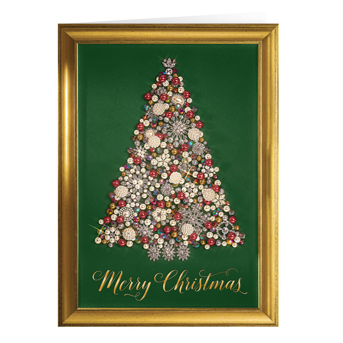 Glittering Tree- Personalized Christmas Cards - Miles Kimball