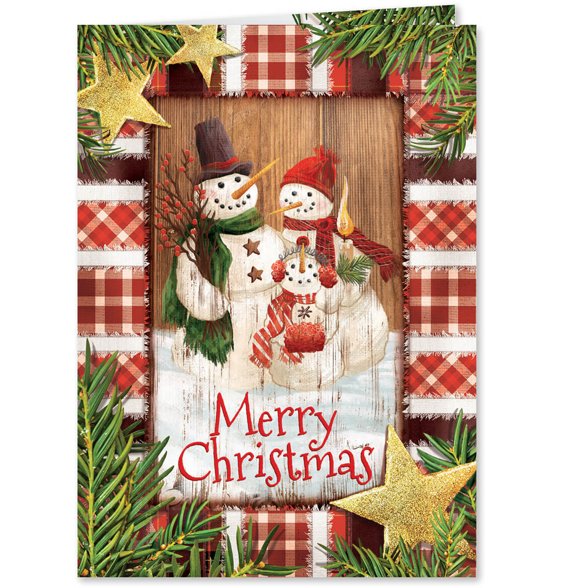 calico snowman personalized christmas cards set of 20 miles kimball calico snowman christmas card set of 20