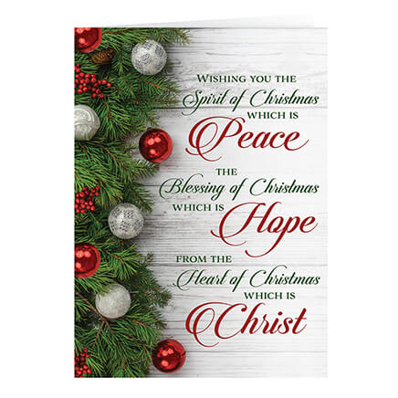 personalized peace hope christ christmas cards set of 20 364061 - Christmas Images For Cards