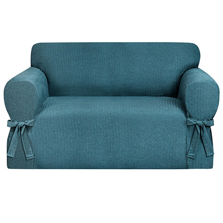 Kathy Ireland Evening Flannel Loveseat Slipcover 364171 ...