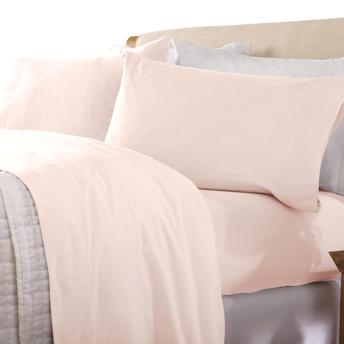 Solid Flannel Sheet Set-364177