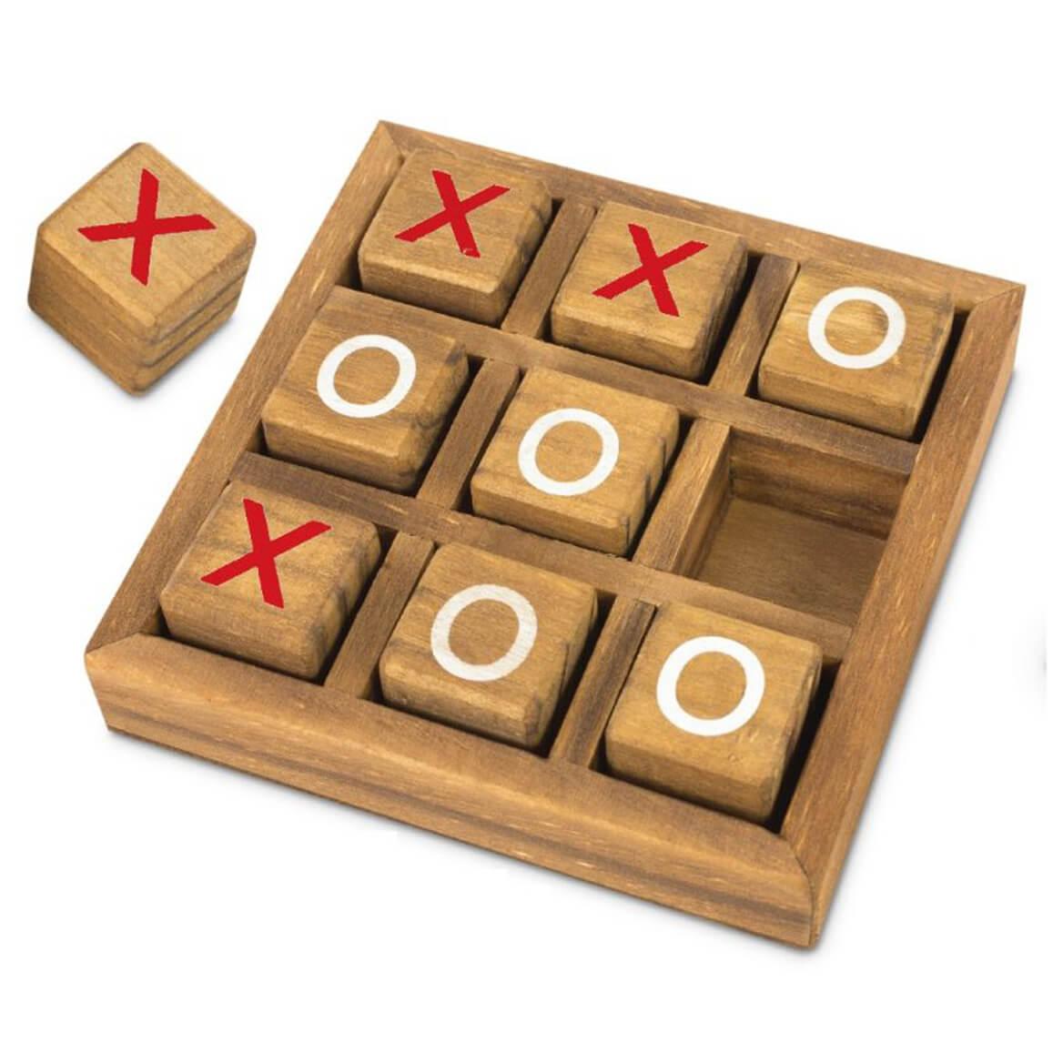 Wooden Tic Tac Toe 10 Pc Set Wood Games Miles Kimball