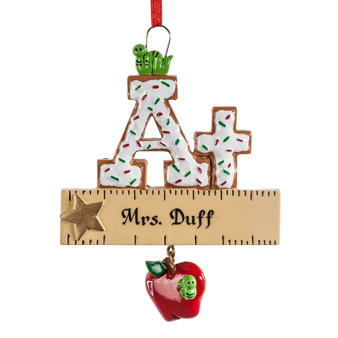 Personalized A+ Teacher Cookie Ornament-364411