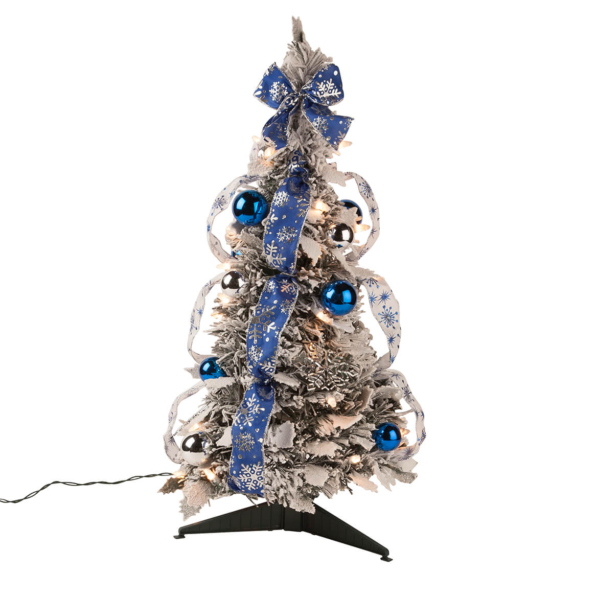 2' Snow Frosted Winter Style Pull-Up Tree by Holiday Peak™-364578