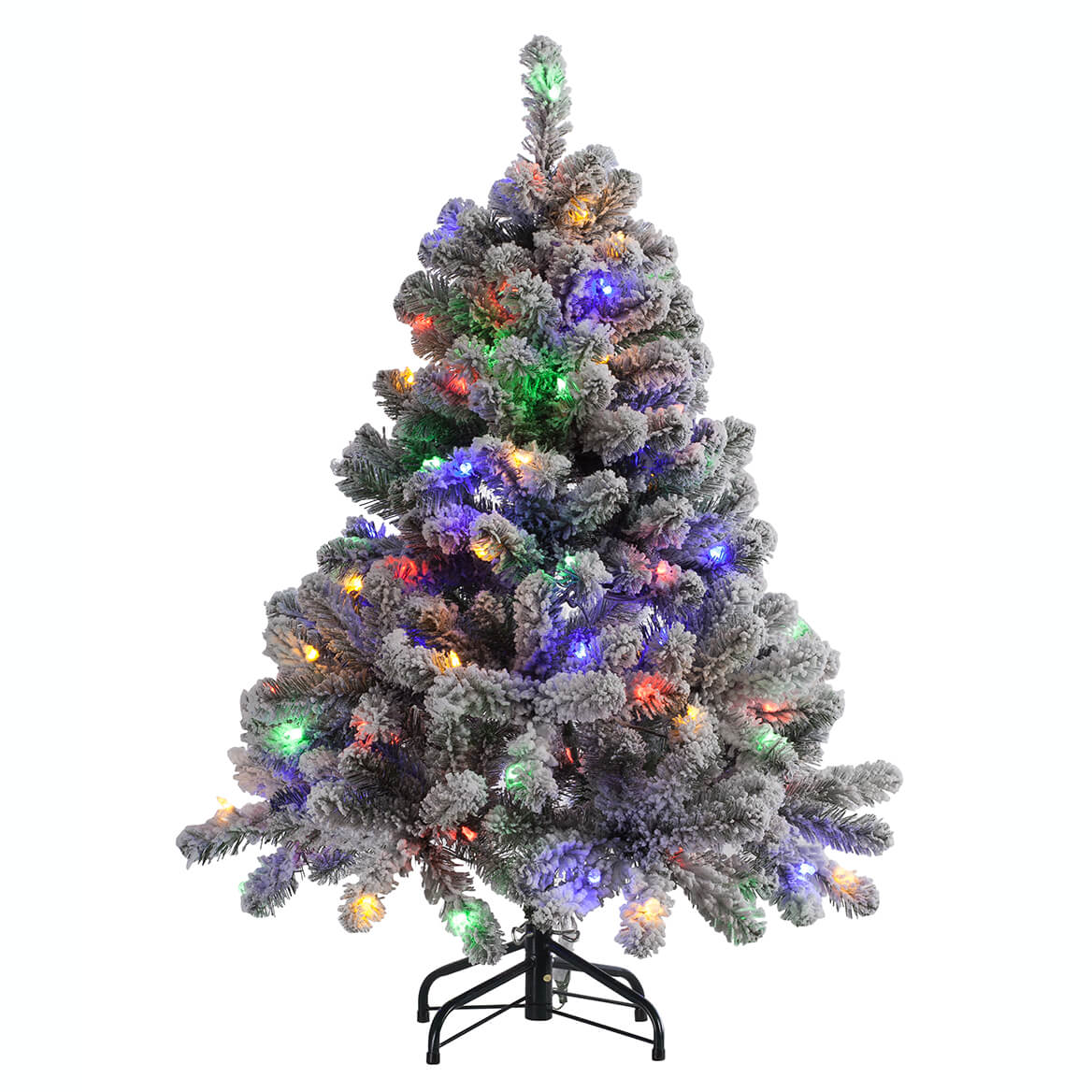 4' Color-Changing Flocked Tree Holiday Peak™     XL-364660