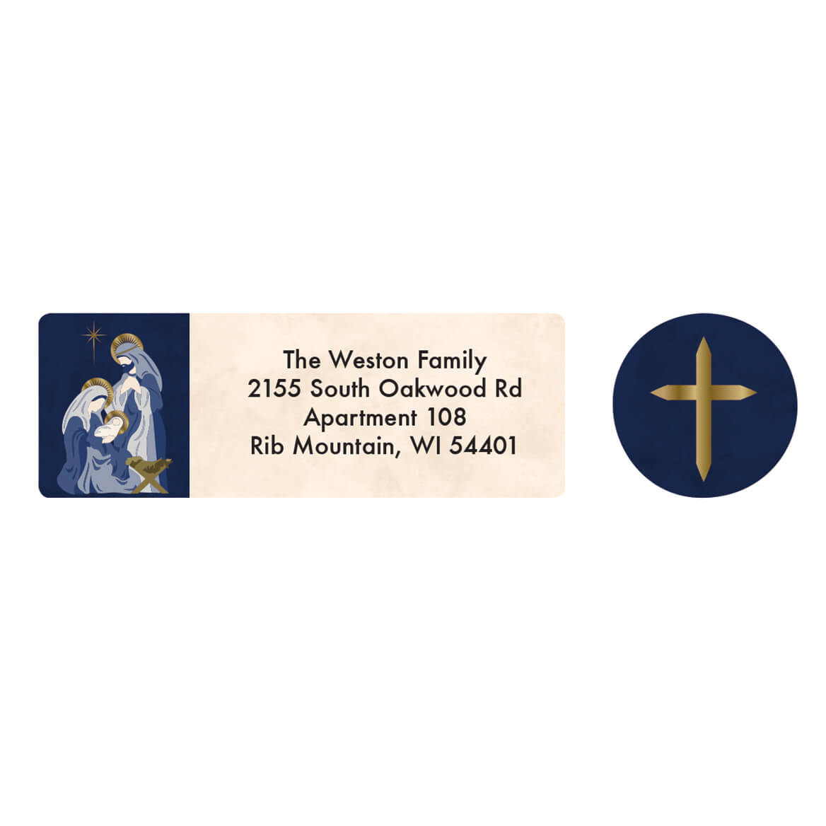 Personalized Nativity Arches Address Labels & Seal 20-364741