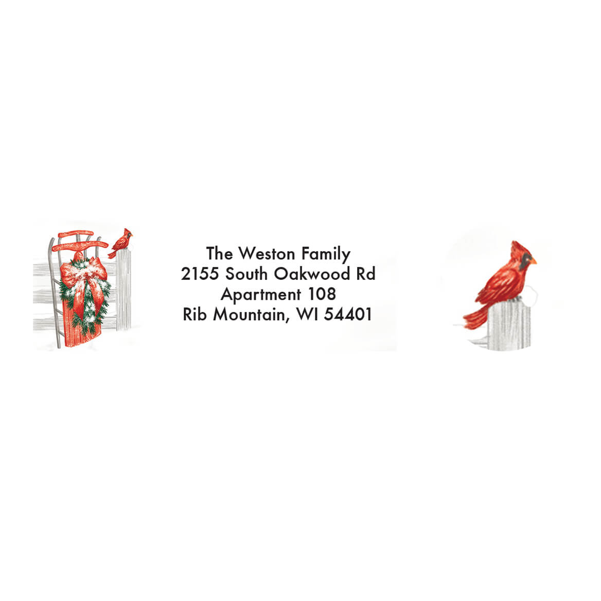 Personalized Thinking of You Address Labels & Seal 20-364747