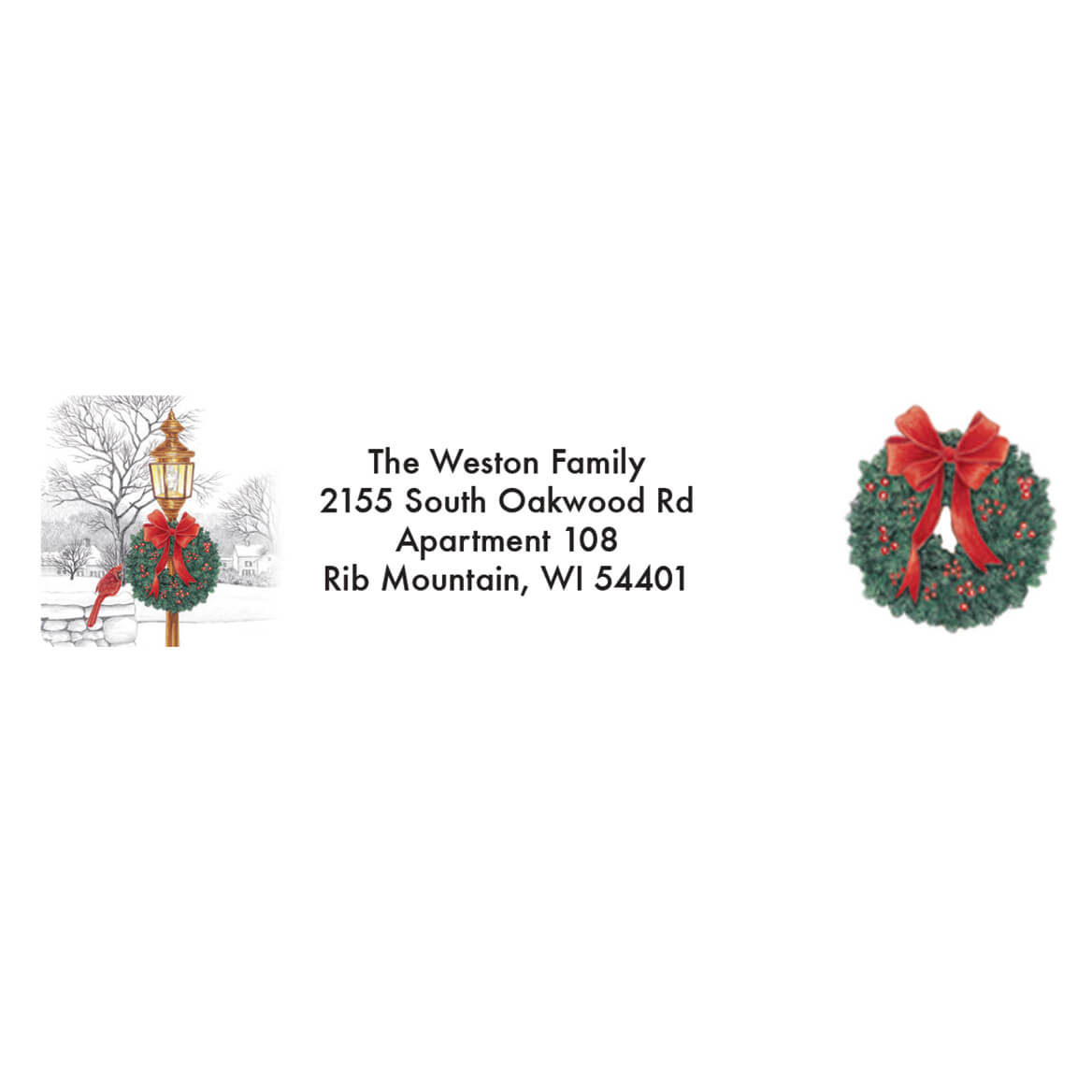Personalized Lamppost Christmas Address Labels & Seals 20-364761