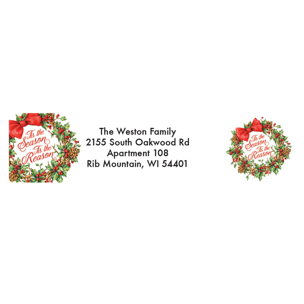 Personalized Tis the Reason Address Labels & Seals 20-364765
