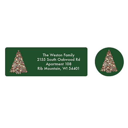 christmas address labels envelope seals miles kimball