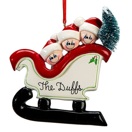Personalized Sleigh Family Ornament-364873 ... - Personalized Ornaments - Miles Kimball