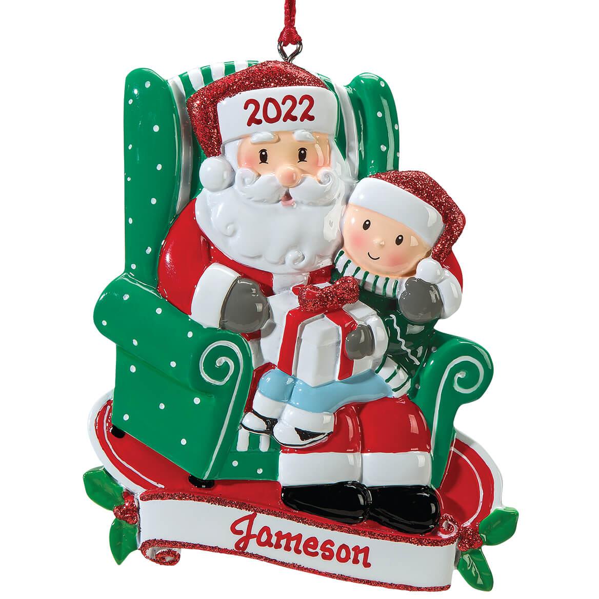 SANTA ON ATV Personalized Christmas Tree Ornament