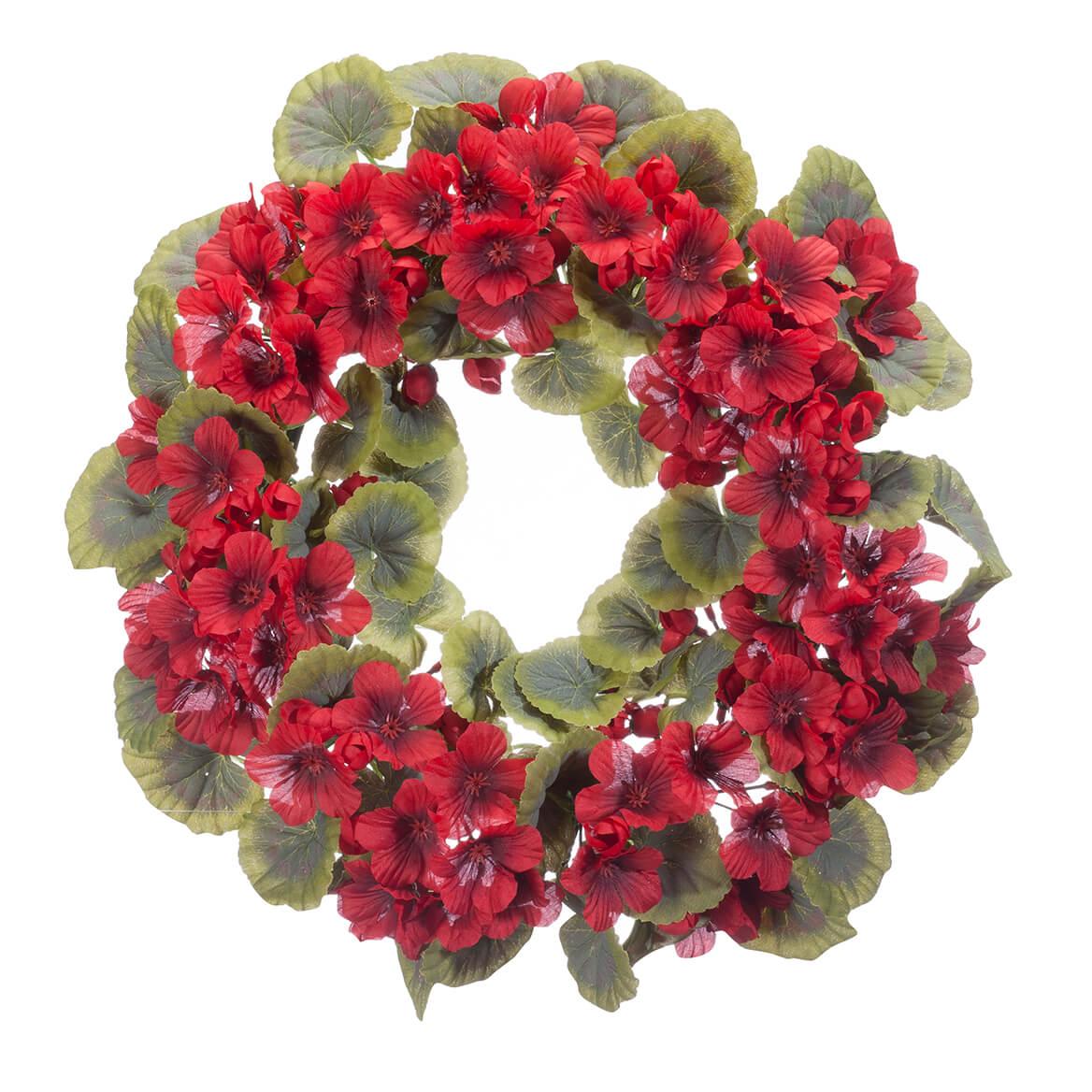 """14"""" Geranium Wreath by OakRidge™-365030"""
