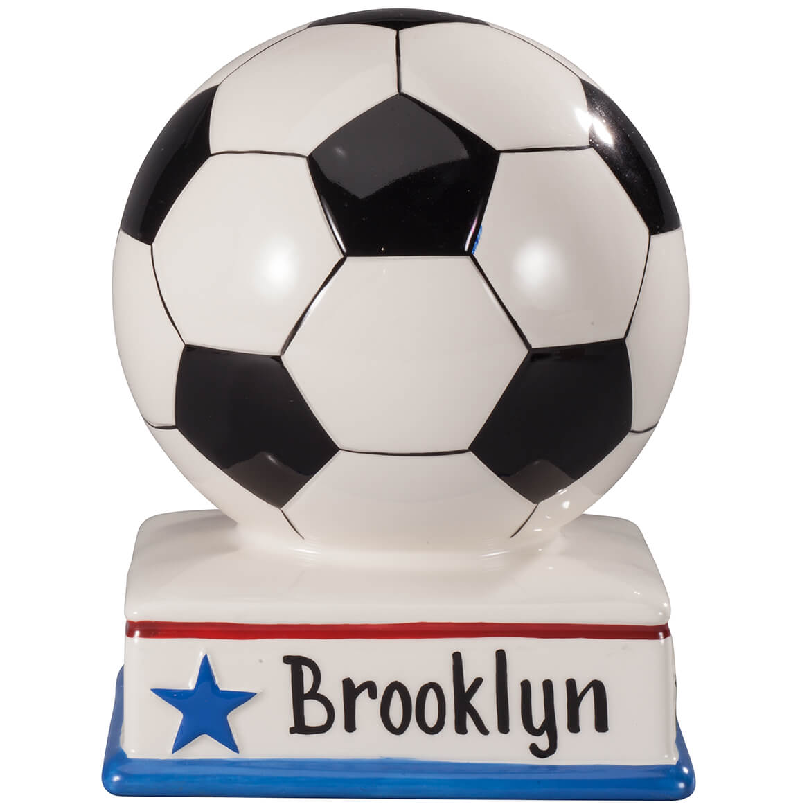 Personalized Soccer Ball Bank Sports Bank Miles Kimball