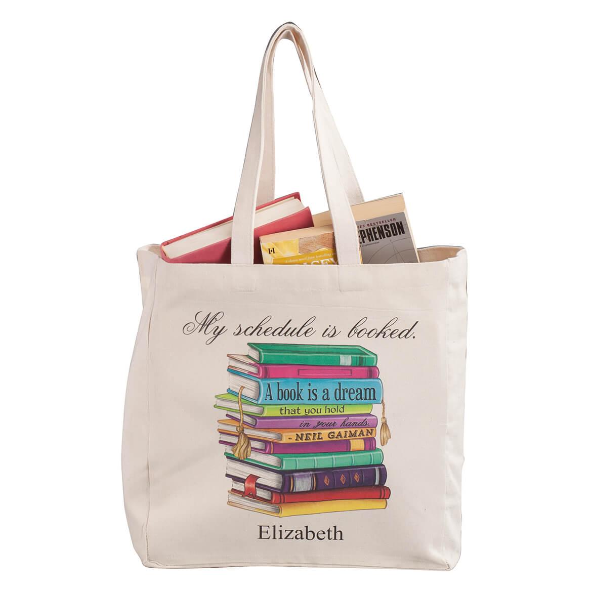 Personalized My Schedule Book Club Tote-365143
