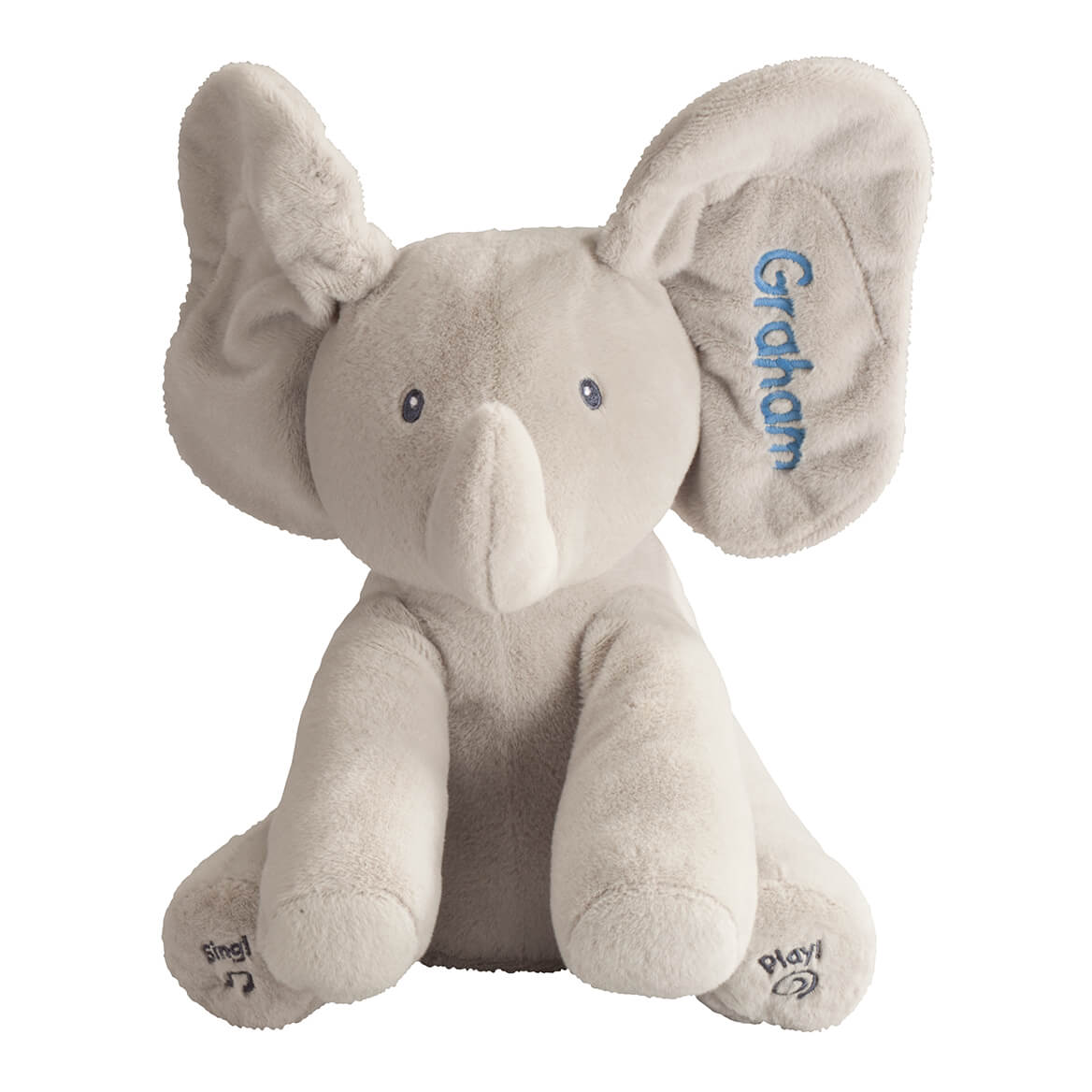 aa580029dda Personalized Flappy Singing Elephant - Peek A Boo Elephant - Miles ...