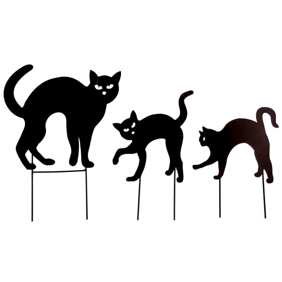 Metal Black Cat Stakes, Set of 3 by Fox River Creations™-365652