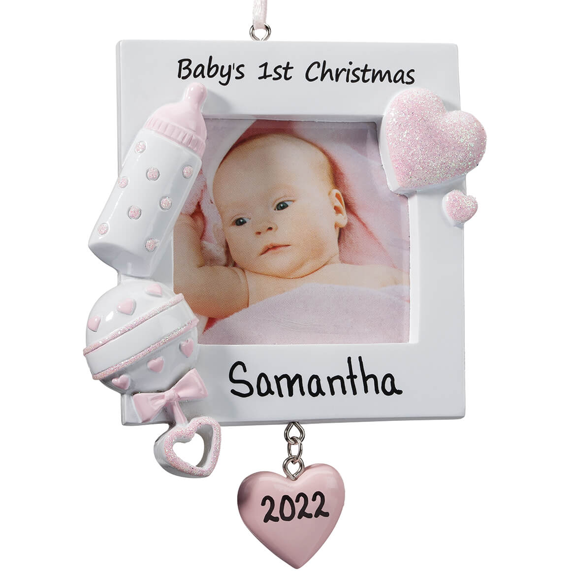 Personalized Baby's First Christmas Frame Ornament-365727