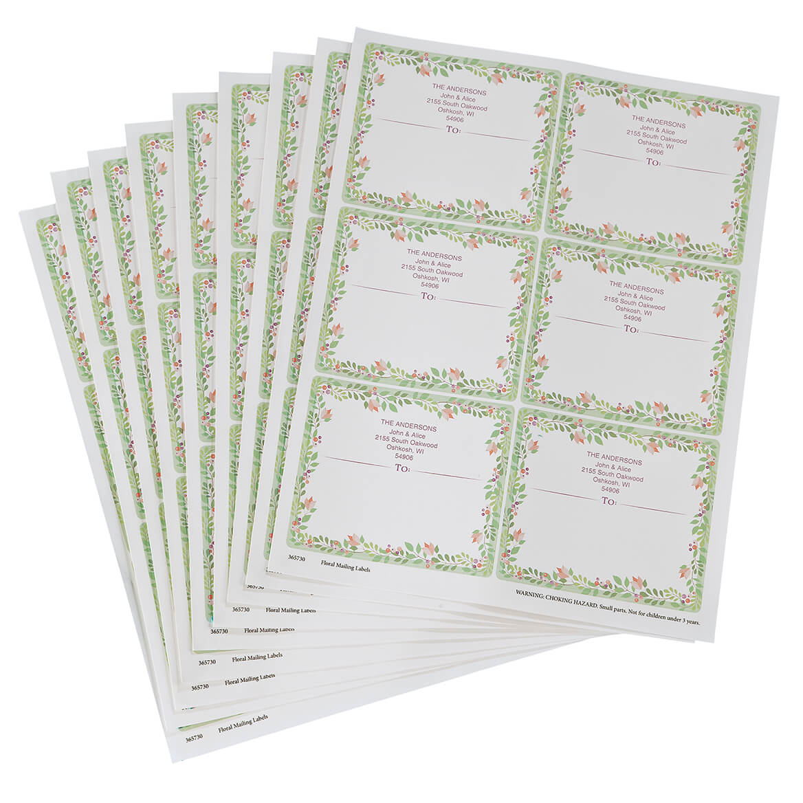 Personalized Floral Mailing Labels-365730