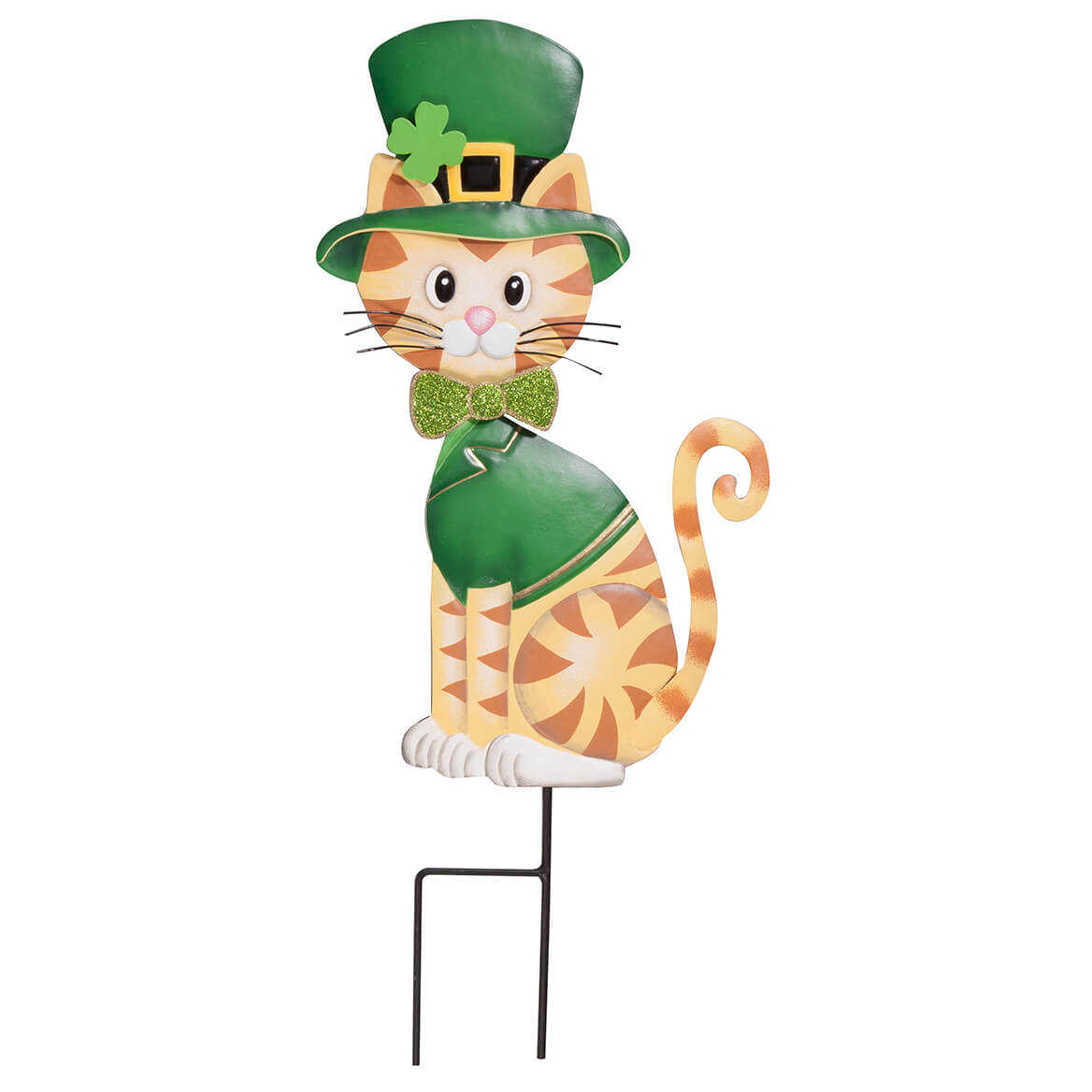 Metal St. Patrick's Day Cat Stake by Fox River Creations™-365859