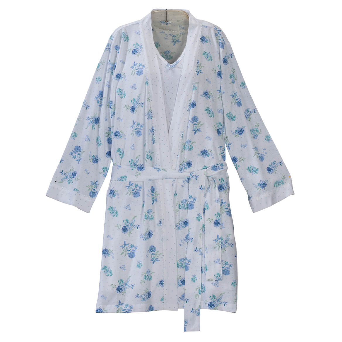 Enchanted Polka Dot Robe/Chemise Set by Sawyer Creek-366750