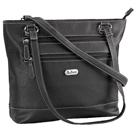 f84370cae B.Amici™ Elisa RFID Black Leather Tote-367447 ...