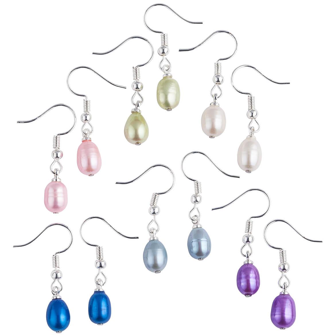 Genuine Fresh Water Pearl Earrings 6 Pair-367595