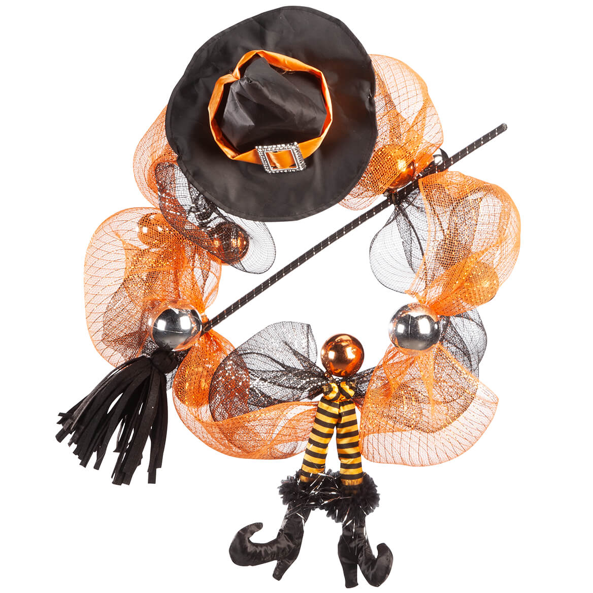 Witch Legs Halloween Wreath by OakRidge™-367610