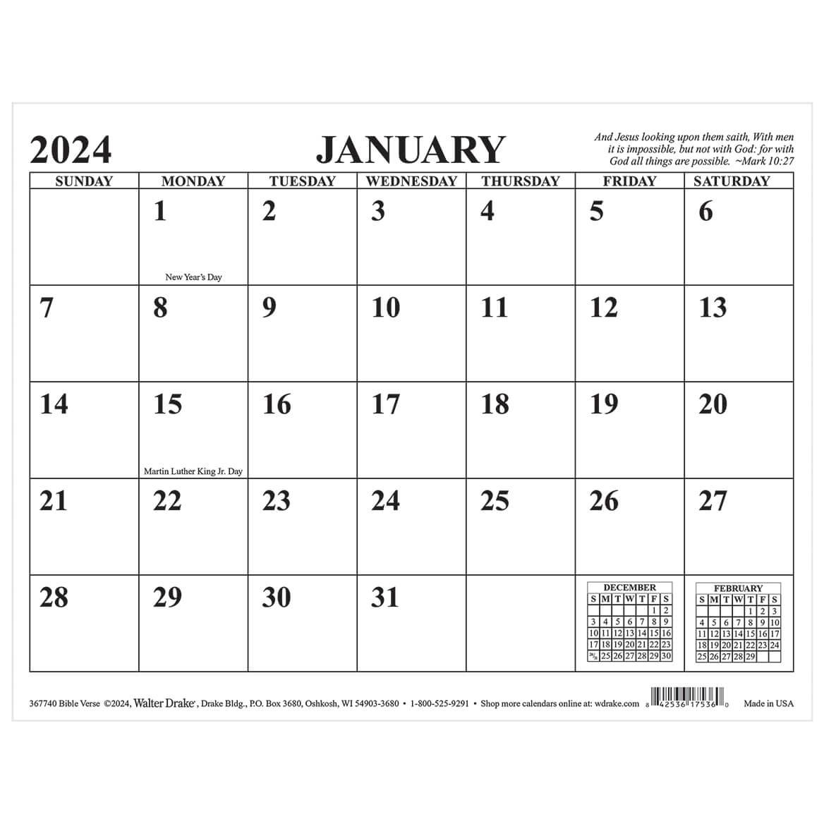 Bible Verse Magnetic Calendar-367740