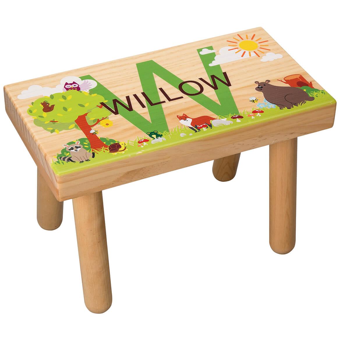Personalized Woodland Animals Children's Step Stool-368055